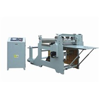 Auto Roll To Sheet Guillotine Machine With Unwinder, Photocell, Rewinder For Kiss Cut
