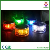 800m viewable distance solar powered led warning light with magnet