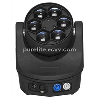 Moving Head light 6pcs 12w 4in1 RGBW LED Mini Bee Eye Beam wash effect  Stage Light (BEE6X12)