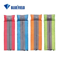 190T Polyester Sponge Dampproof Inflatable Sleeping Pad With Pillow For Pianic