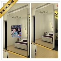 EB GLASS BRAND 2way mirror glass, tv behind mirror, waterproof mirror tv,wall amounted tv mirror