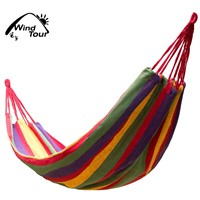 Heavy Duty Camping Travel Canvas Hammock Beach Hanging Chair For 2 Person