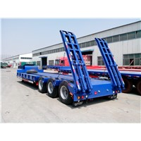 China Supply Truck Trailer  dump trailer low flated bed trailer