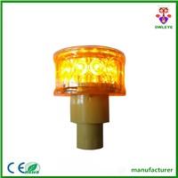 traffic safety solar barricade 12pcs LED revolving warning light