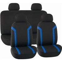 CAR SEAT COVERS BLACK & BLUE Mesh HY-S1006