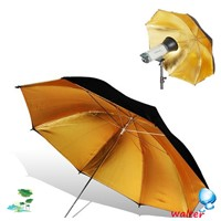 33'/84cm Black+gold/golden Reflective Studio Umbrella Diffuser For Flash Speedlite