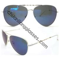 Silver Double Bridge Frame Fashion Man Eyeglasses Sunglasses