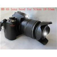 Camera petal shape HB-45 Lens Hood for nikon D3100 D5100 D5200 D3200 18-55mm DX / f/3.5-5.6G VR