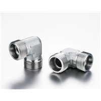 DIN ADAPTOR-METRIC MALE 24 Degree CONE 90 Degree ELBOW