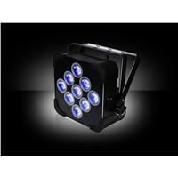 High Quality 9pcs*18W 6in1 RGBAW UV Battery Powered Wireless LED Flat Par Can,LED Slim Par Light