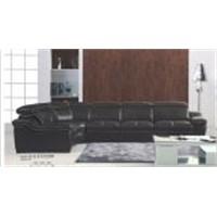 Used Beauty Salon Furniture Black Leather Sofa