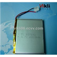 lithium polymer battery 3.7V,4000mah for mobile power,PDA,mobile DVD,medical equipment etc.