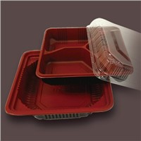 plastic food tray with 3 compartment