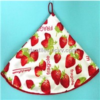 Round Hanging Kitchen Towels Microfiber Dish Towels