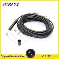 HD 720P waterproof 6LED lights usb endoscope inspection camera with 9mm 5M snake cable