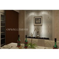 Art Decorative faux leather Wall covering Panels with rhombus retro embossed 1050