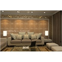 Beautiful pearl embossed faux leather carving tiles for wall decoration 1041