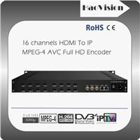 16/20 channels HDMI MPEG4 AVC Full HD Encoder
