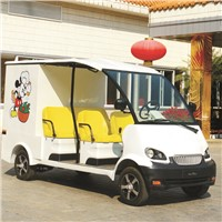 Battery powered electric mobile food cart with 2 seater