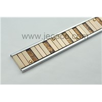 SUS with glass&SUS mixed decor tile trim,border