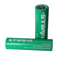 Staring IMR18650 Li-ion battery 3.7V 2500mAh lithium Ion battery