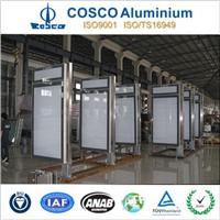 Aluminium bus shelter advertising light box frame