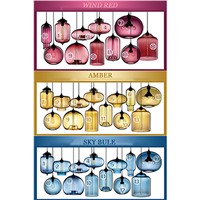 Modern Niche Glass Pendant Lamp Fashion Pendant Light art bar lamps Italy design
