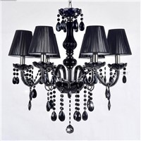 Decorative E14 base 18 arms black chandelier Led crystal lighting ceiling light