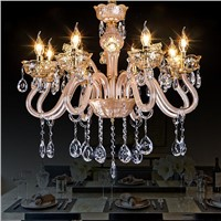Lowest price 8 arms chandelier led crystal ceiling lighting