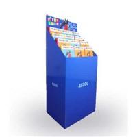 Flat Packed Cardboard Free Standing Display Units, Cardboard Brochure Display Stand