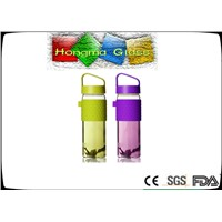 BPA free high quality water bottle, colorful portable glass drinking bottle sport products