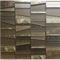 Mix of Stone Mosaic & Glass Mosaic Plus Aluminium