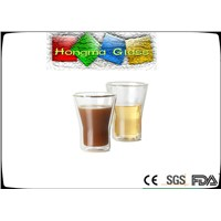 Serving Beverages Double Wall Glass Cups Cold&Hot Proof!350ml Double Wall Glass mugs