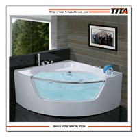 Massage Bathtub with tempered glass front skirt(TMB057)