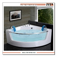 Two persons massage/whirlpool bathtubs with glass(TMB053)
