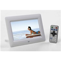Digital photo frame of acrylic material to display photo, vedio and music, 7'inch