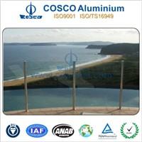 Nice aluminium anodized aluminium fence for balcony/ Pool/ Stair