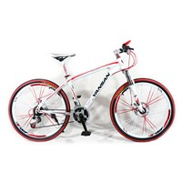 "26"" mountain bicycle with suspension fork"