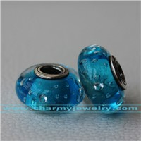 Murano Glass Beads With Sterling Silver Core