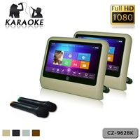 Hd 9' Android Car Headrest Monitor With Hdmi 1080p Usb Sd HD Wifi Capacitive Touch Karaoke Player