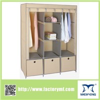 china supplier portable  fabric wardrobe for clothes