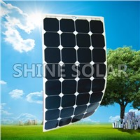 thin film flexible solar panel on boat/caravan/RV's