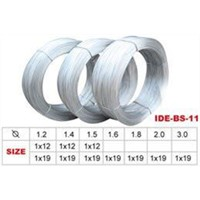 1*7 1*19 7*7 7*19 Brake Cables Galvanized brake line steel wire
