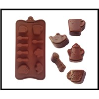 Tea pot Cup Spoon Silicone chocolate molds  Baking Tools