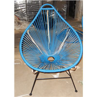 Lounge chair with steel frame