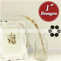 "MM.Mosaic glossy 1"" hexagon flower pattern mosaic tile"