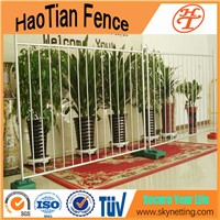 Hot dipped galvanized or power coating removable pedestrian traffic safety guard metal barricade