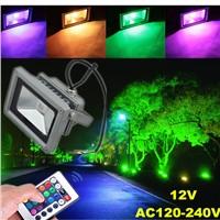 12V LED Flood Light/Waterproof LED Project Lighting/RGB LED Garden Lamp