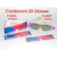 3D anaglyph cardboard glasses, 3D polarized glasses