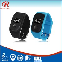 small sos sms button watch gps tracker for kids person